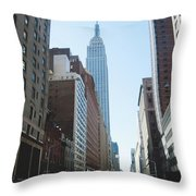 Drive Though The City  Throw Pillow