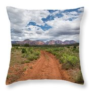 Drive To Loy Canyon, Sedona, Arizona Throw Pillow