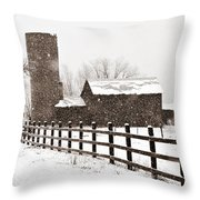 Driving Down Cherryvale Throw Pillow
