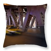 Driving Fast Throw Pillow