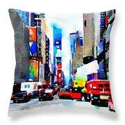 Driving Manhattan Throw Pillow