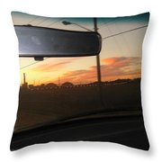 Driving Red Clouds....... Throw Pillow