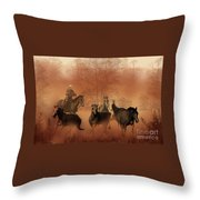 Driving The Herd Throw Pillow by Corey Ford