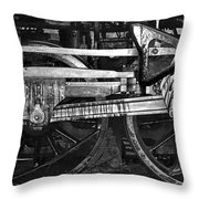 Driving Wheels Throw Pillow