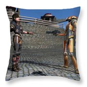 Droid Captures A Local Rebel Throw Pillow