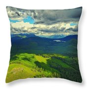 Drone Shot At Walker Valley Throw Pillow