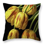 Drooping Tulips Throw Pillow