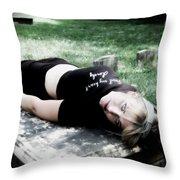 Drop Dead Throw Pillow