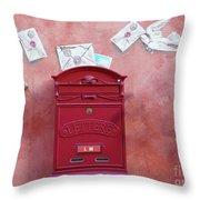 Drop Me A Letter Mr. Postman Throw Pillow