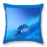 Drop Of Blue Throw Pillow