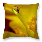 Drop On Flower Stalk Throw Pillow