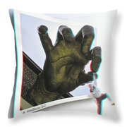 Drop Out - Use Red-cyan 3d Glasses Throw Pillow