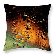 Droplets Ix Throw Pillow