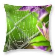 Droplets Of Fog Throw Pillow