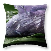Droplets Of Nature Throw Pillow