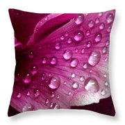 Droplets On Peony 1 Throw Pillow