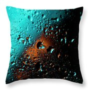 Droplets V Throw Pillow