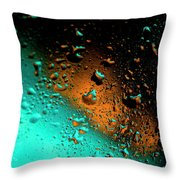 Droplets Vi Throw Pillow