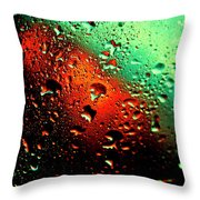 Droplets Vii Throw Pillow