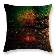 Droplets Xi Throw Pillow