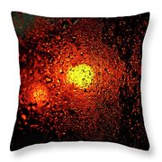 Droplets Xvii Throw Pillow