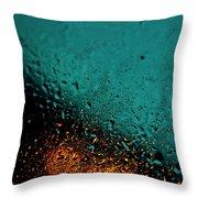 Droplets Xxii Throw Pillow