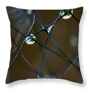 Droplettes Throw Pillow