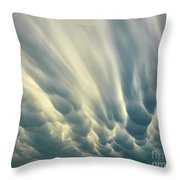 Dropping Clouds Throw Pillow