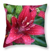 Dropplet Lilly Throw Pillow