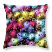 Drops And Candies Throw Pillow