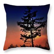 Colorful Sunset Throw Pillow