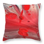 Drops Of Red Throw Pillow