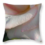 Drops On Petals Throw Pillow