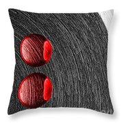 Drops On Steel Throw Pillow