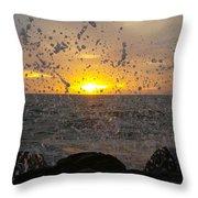 Drops, Sun And Sea Throw Pillow