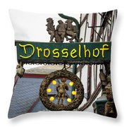 Drosselhof Neon Sign Throw Pillow