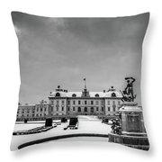 Drottningholm Castle Winter Throw Pillow