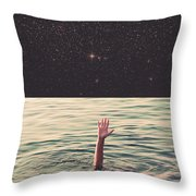 Drowned In Space Throw Pillow
