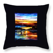 Drowned Sunset Throw Pillow