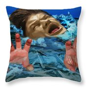 Drowning In Wealth Throw Pillow