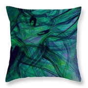 Drowning Throw Pillow