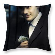 Drug Dealer With Marijuana Throw Pillow