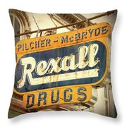 Drug Store #3 Throw Pillow