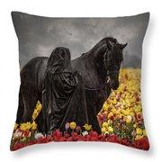 Druids In The Fields Throw Pillow