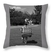 Drummer Boy Throw Pillow