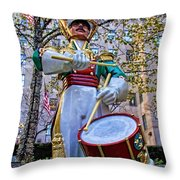 Drummer Boy  In Rockefeller Center Throw Pillow