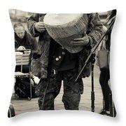 Drummer Throw Pillow