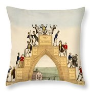 Drunkards Progress, 1846 Throw Pillow