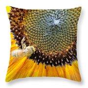 Drunken Bee Throw Pillow