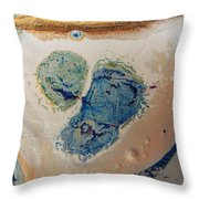 Dry Cream Crusted Gold Dust Trail Throw Pillow